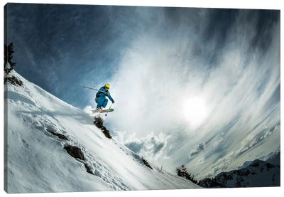 Thao De La Soujeole At Home In Flaine Canvas Art Print