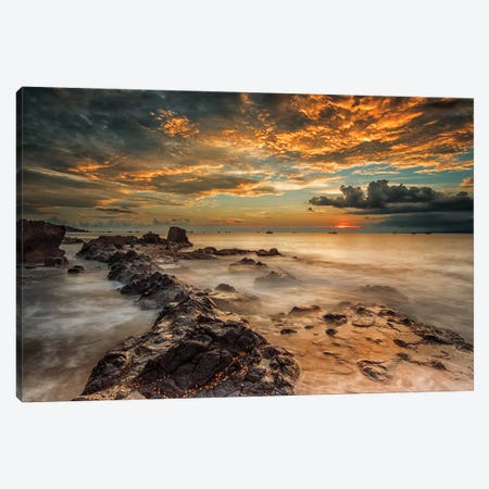 Angry Beach Canvas Print #OXM4679} by Gunarto Song Art Print