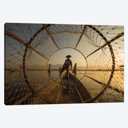 Inle Fisherman Canvas Print #OXM4680} by Gunarto Song Canvas Wall Art