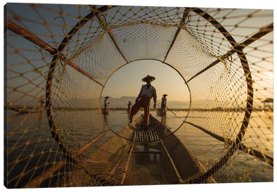Inle Fisherman Canvas Art Print