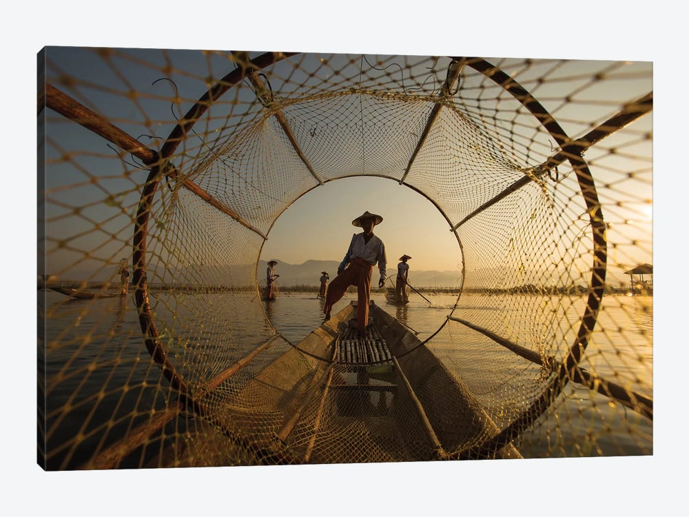 Inle Fisherman by Gunarto Song 1-piece Canvas Print