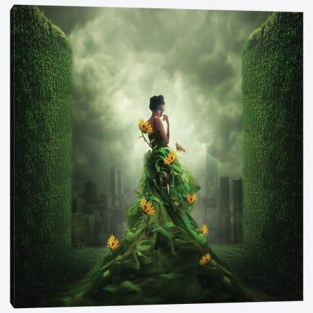 Go Green Canvas Print #OXM4684} by hardibudi Art Print
