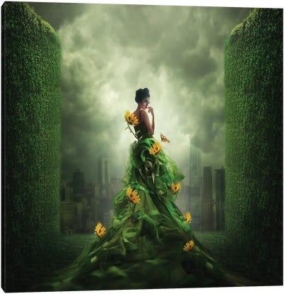 Go Green Canvas Art Print
