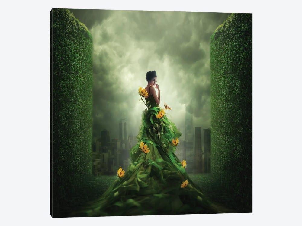 Go Green by hardibudi 1-piece Canvas Print