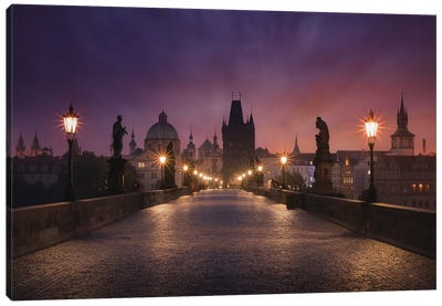 Saint Charles Bridge, Prague Canvas Art Print