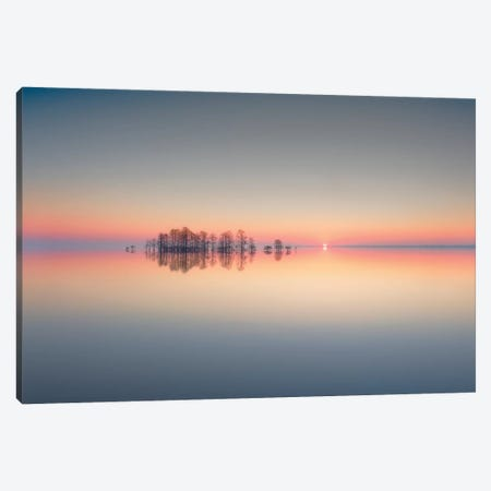 Lake Mattamuskeet Memory 3-Piece Canvas #OXM4715} by Liyun Yu Art Print