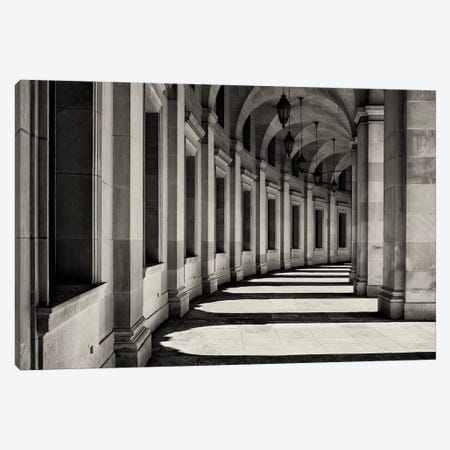 Curved Corridor Canvas Print #OXM4717} by Louise Wolbers Art Print