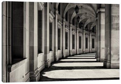 Curved Corridor Canvas Art Print