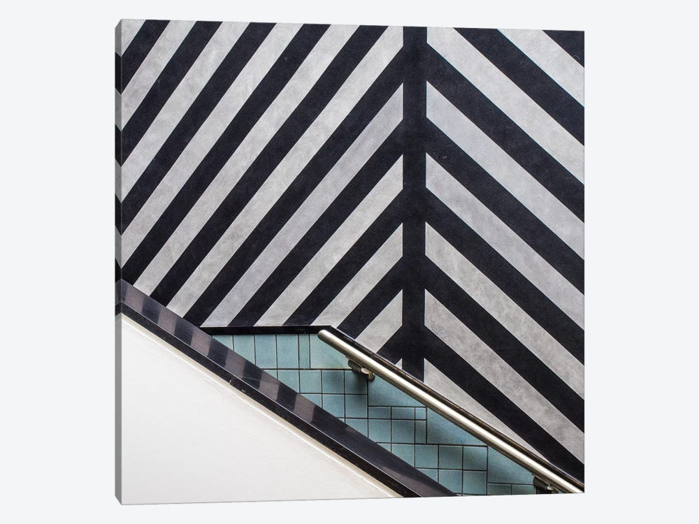 Museum Staircase 1-piece Canvas Print