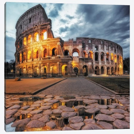 The Colosseum Canvas Print #OXM4730} by Massimo Cuomo Canvas Artwork