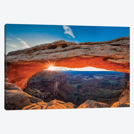 Sunrise At Mesa Arch Canvas Print #OXM4734} by Michael Zheng Canvas Print