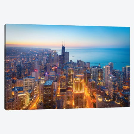 The Magnificent Mile 3-Piece Canvas #OXM4735} by Michael Zheng Canvas Art Print