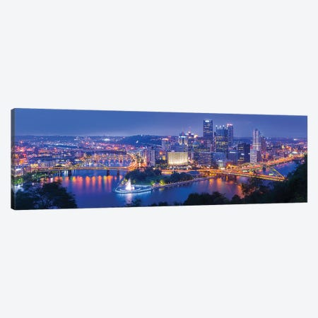 The Steel City Canvas Print #OXM4736} by Michael Zheng Canvas Art Print