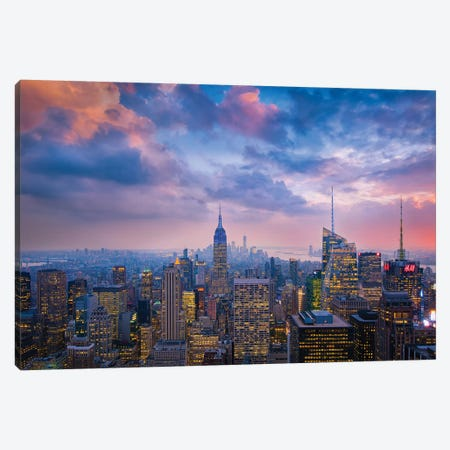 Top Of The Rock Canvas Print #OXM4738} by Michael Zheng Canvas Wall Art