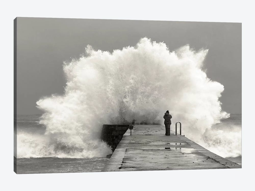 Waves Photographer by Mikel Lastra 1-piece Canvas Artwork