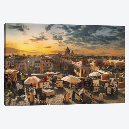 Skyline Di Roma Canvas Print #OXM4747} by Nicodemo Quaglia Canvas Art