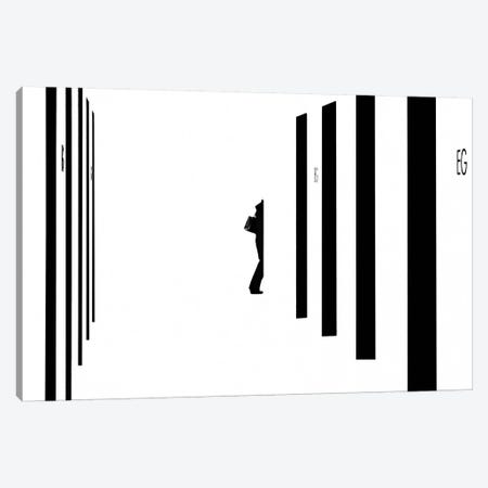 Barcode Canvas Print #OXM475} by Andreas Bauer Canvas Artwork