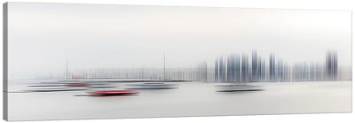 Boats In The Harbour Canvas Art Print