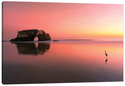 Sunset At The Natural Bridge-2 Canvas Art Print
