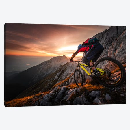 Golden Hour High Alpine Ride Canvas Print #OXM4793} by Sandi Bertoncelj Canvas Artwork