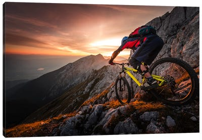 Golden Hour High Alpine Ride Canvas Art Print