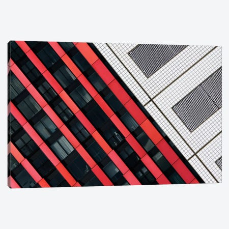 Red Diagonals Canvas Print #OXM47} by Greetje van Son Canvas Artwork