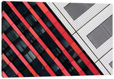 Red Diagonals Canvas Art Print