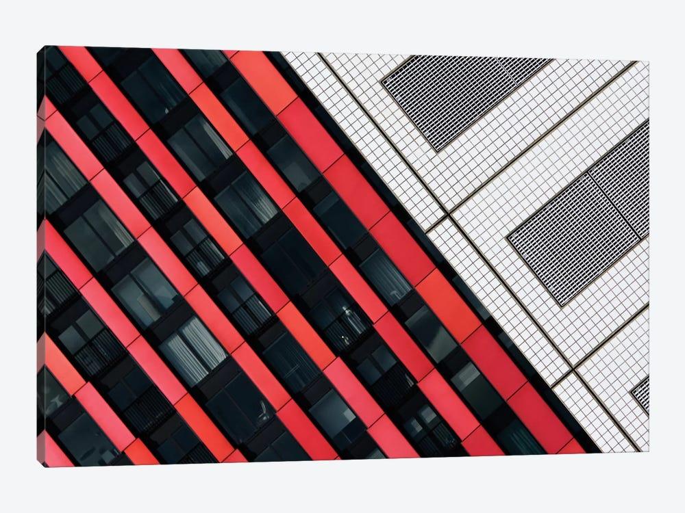 Red Diagonals by Greetje van Son 1-piece Canvas Art Print
