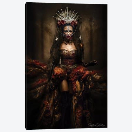 Lady Of The Night Canvas Print #OXM4806} by Siegart Art Print
