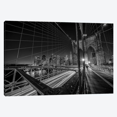 Brooklyn Bridge Lights Canvas Print #OXM4810} by Stefan Schilbe Canvas Art Print