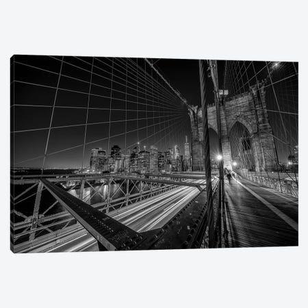Brooklyn Bridge Lights Canvas Print #OXM4810} by Stefan Schilbe Canvas Art Print