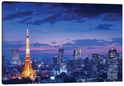 Tokyo Night View Canvas Art Print