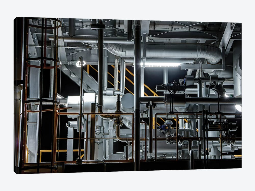 Plumbing by Tomoshi Hara 1-piece Canvas Print