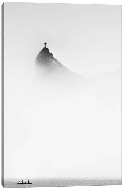 Cristo In The Mist Canvas Art Print