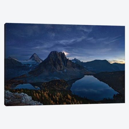 Starry Night At Mount Assiniboine Canvas Print #OXM4846} by Yan Zhang Canvas Art Print
