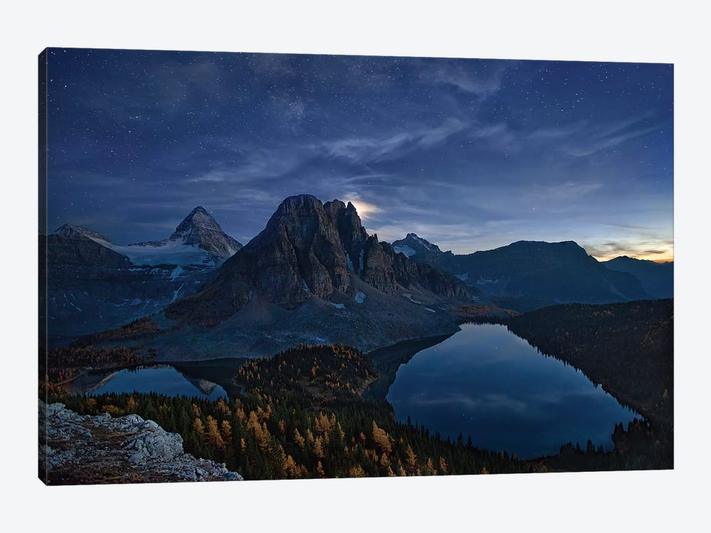 Starry Night At Mount Assiniboine by Yan Zhang 1-piece Canvas Art