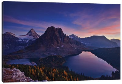 Twilight At Mount Assiniboine Canvas Art Print