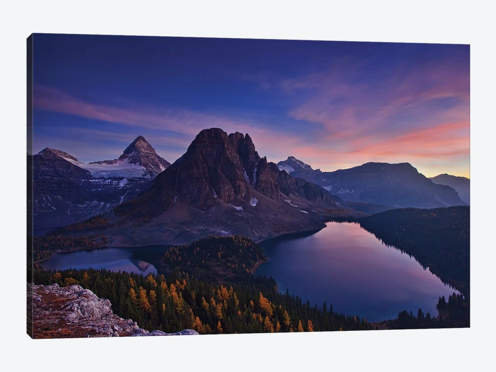 Twilight At Mount Assiniboine by Yan Zhang 1-piece Canvas Art Print