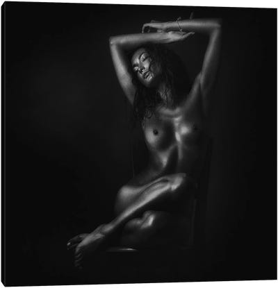 Nude In Black Canvas Art Print