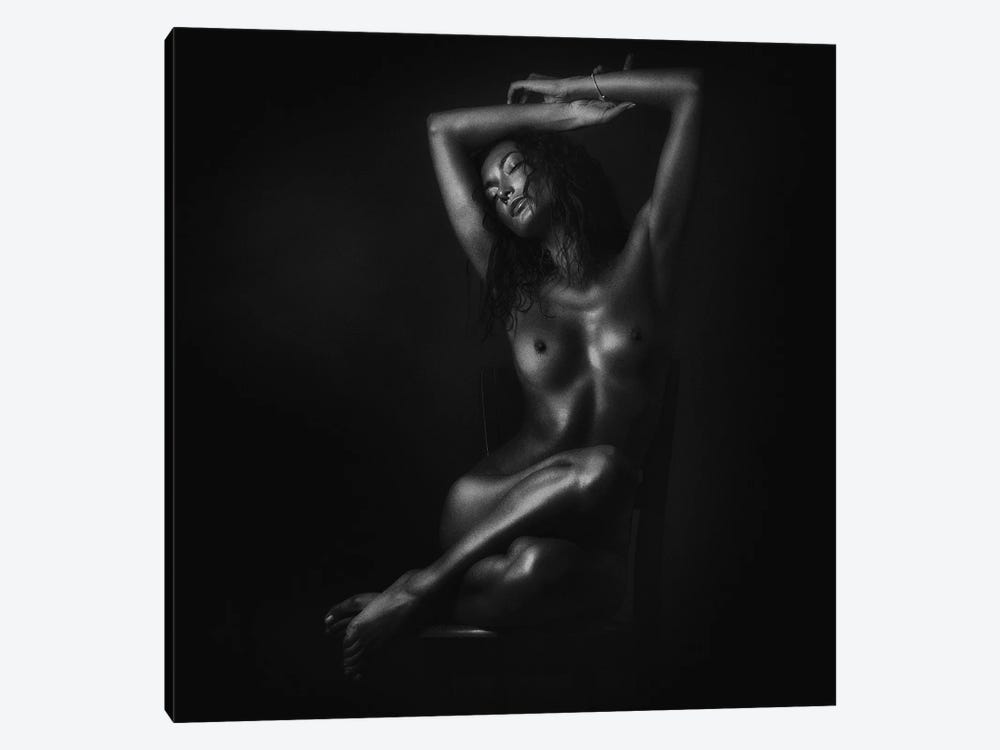 Nude In Black by Zachar Rise 1-piece Canvas Artwork