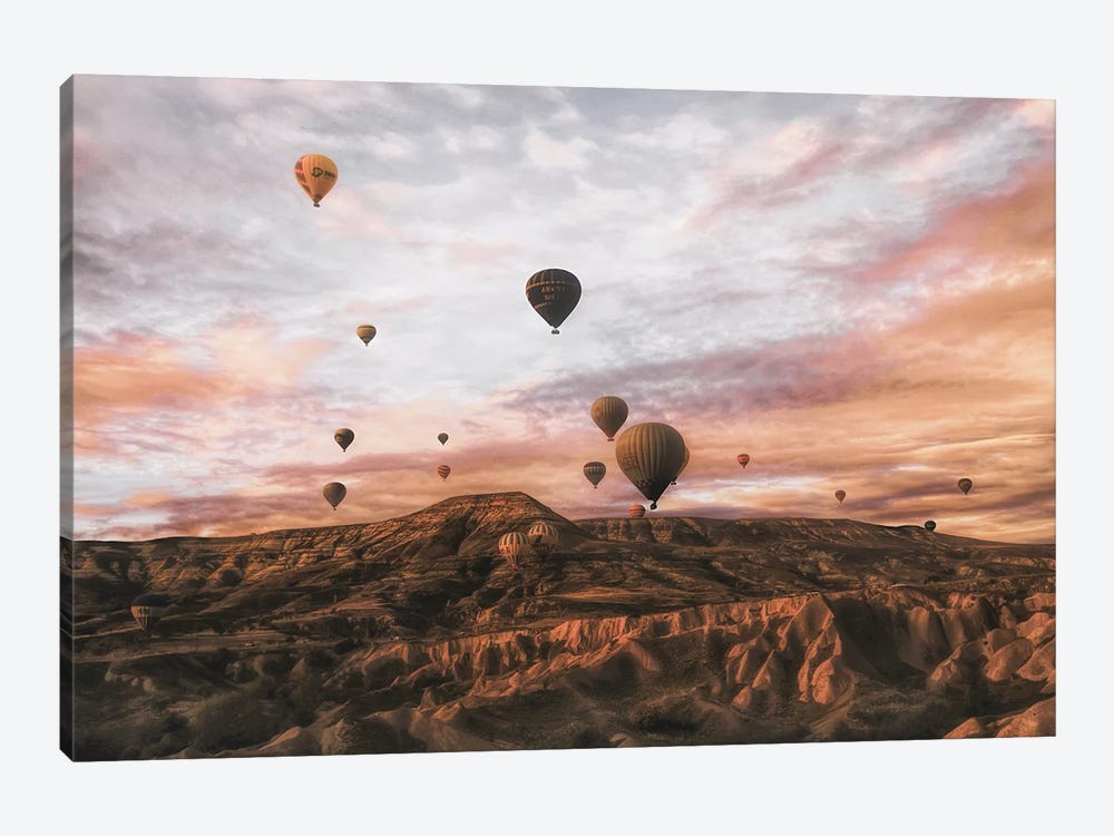 Cappodocia Hot Air Balloon by Ayse Yorgancilar 1-piece Canvas Artwork