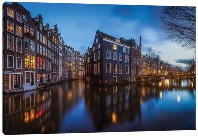 Blue Amsterdam Canvas Art Print