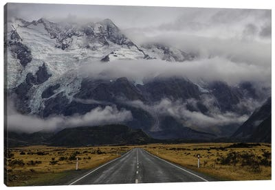 Road To Mt Cook Canvas Art Print