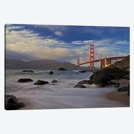 Golden Gate Bridge Canvas Print #OXM4902} by Evgeny Vasenev Canvas Art Print