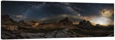 Galaxy Dolomites Canvas Art Print
