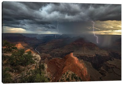 Mohave Point Thunderstorm Canvas Art Print