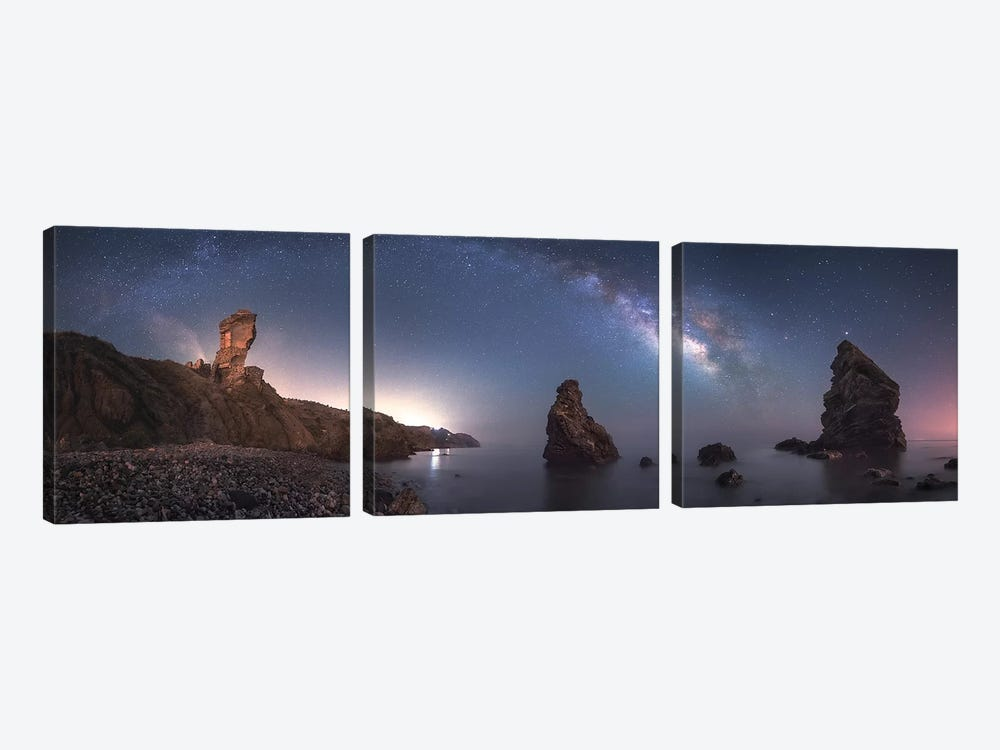 Sea Of Galaxies by Juan Facal Photography 3-piece Canvas Wall Art
