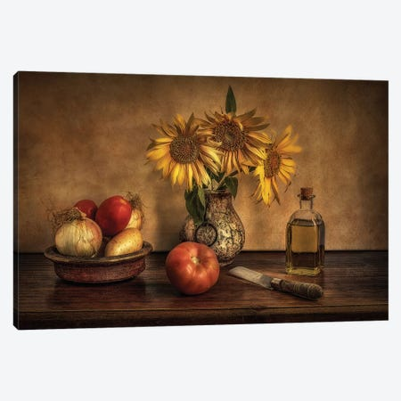 Girasoles En La Cocina... Canvas Print #OXM4913} by Juan Luis Seco Canvas Wall Art