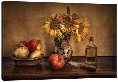 Girasoles En La Cocina... Canvas Art Print