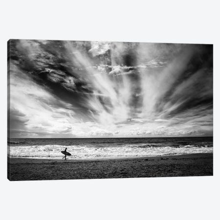 The Loneliness Of A Surfer Canvas Print #OXM4924} by Lorenzo Grifantini Canvas Wall Art